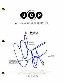 Christian Slater Signed Autograph Mr Robot Full Pilot Script Rami Malek