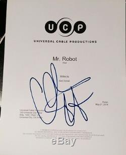 Christian Slater Signed Autograph Rare Mr. Robot Pilot Episode Script With Coa