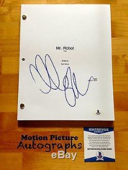 Christian Slater Signed Full Mr. Robot Pilot Script 64 Pages Beckett Bas Coa