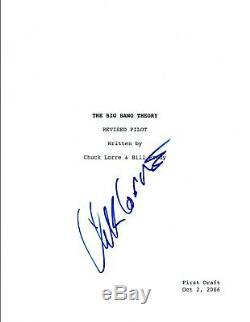 Chuck Lorre Signed Autograph THE BIG BANG THEORY Pilot Episode Script COA VD