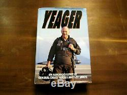 Chuck Yeager Speed Of Sound Ace Pilot Signed Auto Yeager 1985 Book Jsa Beauty