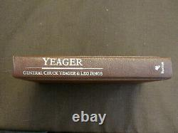 Chuck Yeager Speed Of Sound Pilot 2x Signed Auto Leather Le Yeager X1 Book Jsa