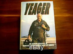 Chuck Yeager Speed Of Sound Pilot Signed Auto Yeager Autobiography Book Jsa