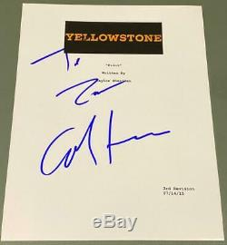 Cole Hauser Signed Autograph Yellowstone Full Rare Show Pilot Script Coa