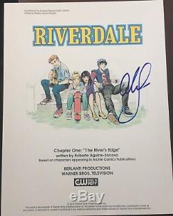 Cole Sprouse Signed Autograph Riverdale Full Pilot Episode Show Script Coa