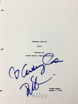 Courteney Cox & David Schwimmer Signed Autograph Friends Pilot Script With Coa