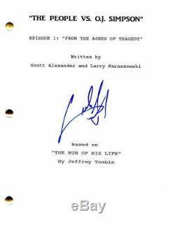 Cuba Gooding Jr Signed Autograph The People Vs Oj Simpson Full Pilot Script