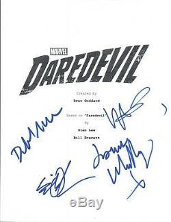 DAREDEVIL Cast Signed Autographed Pilot Script Deborah Ann Woll + 3 COA