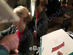 DAREDEVIL SIGNED PILOT (SCRIPT COVER) BY CHARLIE COX & DEBORAH ANN WOLL withPROOF