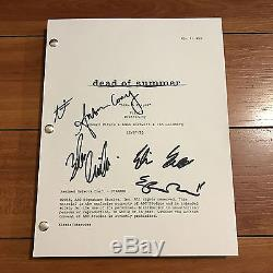 DEAD OF SUMMER SIGNED PILOT SCRIPT BY +5 CAST ELIZABETH MITCHELL with PROOF