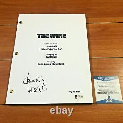 DOMINIC WEST SIGNED THE WIRE FULL 64 PAGE PILOT SCRIPT with BECKETT BAS COA
