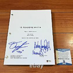DYLAN MINNETTE & KATHERINE LANGFORD SIGNED 13 REASONS WHY PILOT SCRIPT with COA