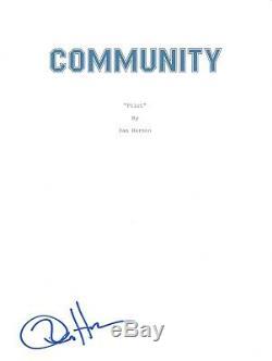 Dan Harmon Signed Autographed COMMUNITY Pilot Episode Script Show Creator COA