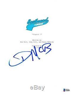 Danny Mcbride Signed Eastbound And Down Pilot Script Beckett Bas Autograph Auto