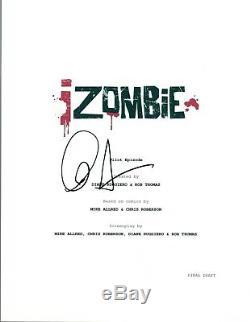 David Anders Signed Autographed iZOMBIE Pilot Episode Script COA AB