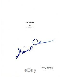 David Chase Signed Autographed THE SOPRANOS Pilot Episode Script COA VD