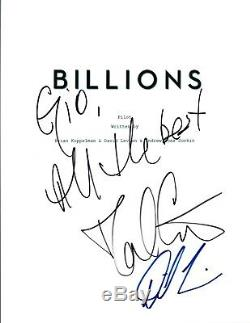 David Costabile & David Levien Signed Autographed BILLIONS Pilot Script COA AB