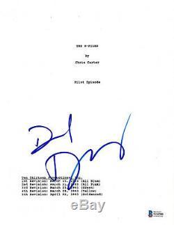 David Duchovny Signed'the X-files' Full Pilot Episode Script Beckett Coa Bas