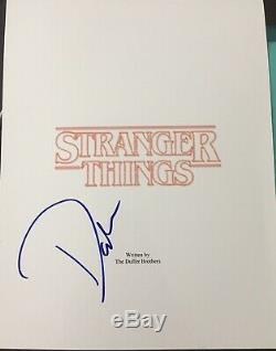 David Harbour Signed Autograph Stranger Things Pilot Show Full Script Coa