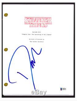 David Harbour Signed Autographed STRANGER THINGS Pilot Script Beckett BAS COA