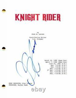 David Hasselhoff Signed Autograph Knight Rider Full Pilot Script K. I. T. T