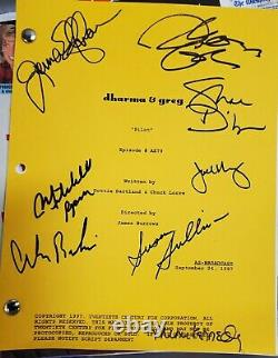 Dharma And Greg-tv Series, Pilot Script Autographed By 8 Cast Members