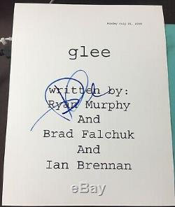 Dianna Agron Signed Autograph Glee Tv Show Pilot Ep Full Script Coa
