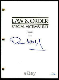 Dick Wolf Law & Order SVU AUTOGRAPH Signed Full Complete Pilot Script ACOA