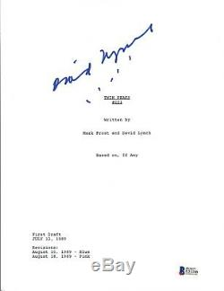 Director David Lynch Signed Autographed TWIN PEAKS Pilot Script Beckett BAS COA