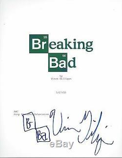 Director Vince Gilligan Signed Breaking Bad Full Pilot Episode Script Coa Sketch