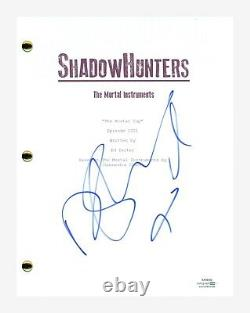 Dominic Sherwood Signed Autographed SHADOWHUNTERS Pilot Episode Script ACOA COA