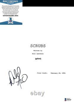 Donald Faison Signed'scrubs' Dr Turk. Full Pilot Episode Script Beckett Bas Coa