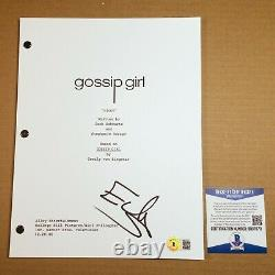 ED WESTWICK SIGNED GOSSIP GIRL FULL PAGE PILOT SCRIPT with BECKETT BAS COA