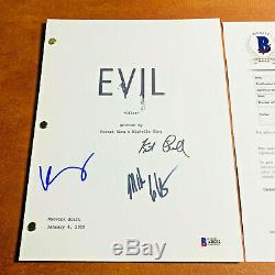 EVIL SIGNED PILOT SCRIPT BY 3 CAST KATJA HERBERS MIKE COLTER with BECKETT BAS COA