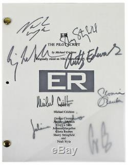 E. R. (8) Clooney, Crichton, Edwards, Wyle +4 Signed Pilot Episode Tv Script BAS