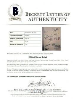 E. R. Cast Signed Autographed Script Pilot Wyle Tierney Innes BAS A34834