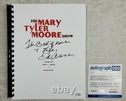 Ed Asner Signed Full TV Episode Pilot Script The Mary Tyler Moore Show 1970 ACOA