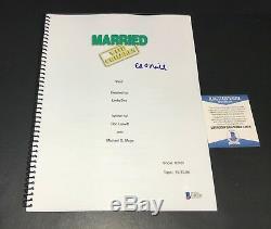 Ed O'neill Signed Auto Married With Children Pilot Script Screenplay Bas Beckett