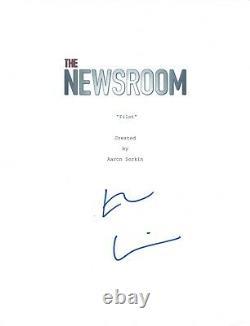 Emily Mortimer Signed Autographed The Newsroom Pilot Episode Script COA