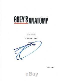 Eric Dane Signed Autographed GREY'S ANATOMY Pilot Episode Script COA VD