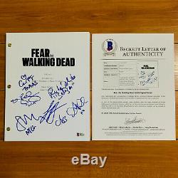 FEAR THE WALKING DEAD SIGNED PILOT SCRIPT BY x6 CAST ALYCIA DEBNAM CAREY with COA