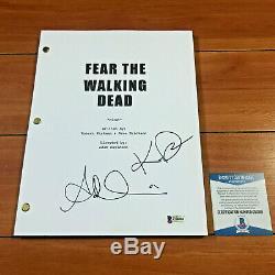Fear The Walking Dead Signed Pilot Script By Alycia Debnam Carey Kim Dickens Coa