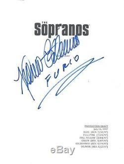 Federico Castelluccio Signed Autographed THE SOPRANOS Pilot Script Furio COA