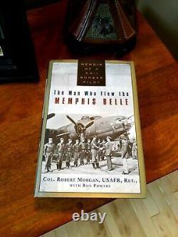 Flat Signed Memphis Belle Book Signed By Pilot Robert Morgan B-17 Wwii