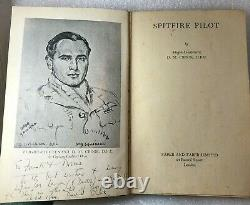 Flight LT DM Crook DFC Signed Copy His Book Spitfire Pilot signed oct 1944