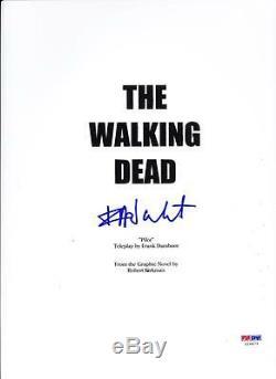 Frank Darabont Signed Walking Dead Pilot Episode 61 Page Script Autograph Psa