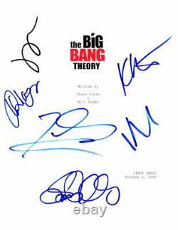 Full Cast (x5) Signed Autograph Big Bang Theory Full Pilot Script Kaley Cuoco+
