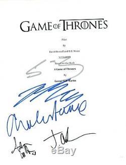 GAME OF THRONES Cast Signed Pilot Script by 5 Sean Bean Dance Gillen +2 COA