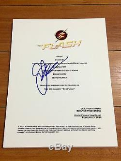 GEOFF JOHNS SIGNED THE FLASH PILOT EPISODE FULL SCRIPT withPROOF GRANT GUSTIN
