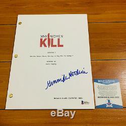 GINNIFER GOODWIN SIGNED WHY WOMEN KILL FULL PILOT SCRIPT with BECKETT BAS COA